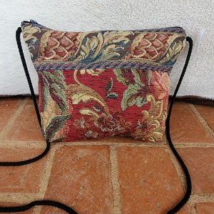 Vintage Brocade Carpet Crossbody Bag